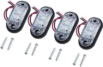 Justech 4 x Luces Laterales del Marcador del LED Posición del LED Lámparas Laterales 12V 24V Blanco Universal Para Remolque Camioneta Caravana Camión Camión Autobús