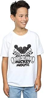 Disney niños Mickey Mouse Mirrored Camiseta