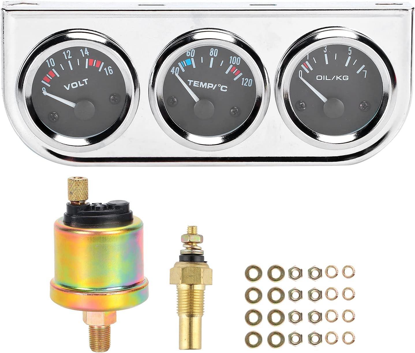 Medidor de presión de aceite, medidores de metal para automóviles para conductores