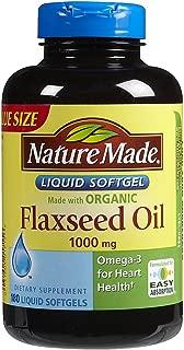Nature Made Flaxseed Oil - 1000 mg - 180 Liquid Softgels (Packaging may vary)