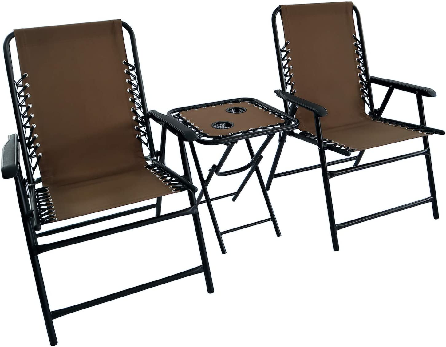 JOYURE Set of Popular overseas 2 Folding Max 66% OFF Patio Dining Portable Bungee Chairs Chai