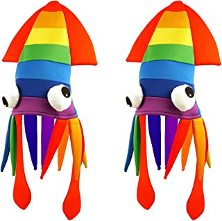 Best rainbow squid hat Reviews
