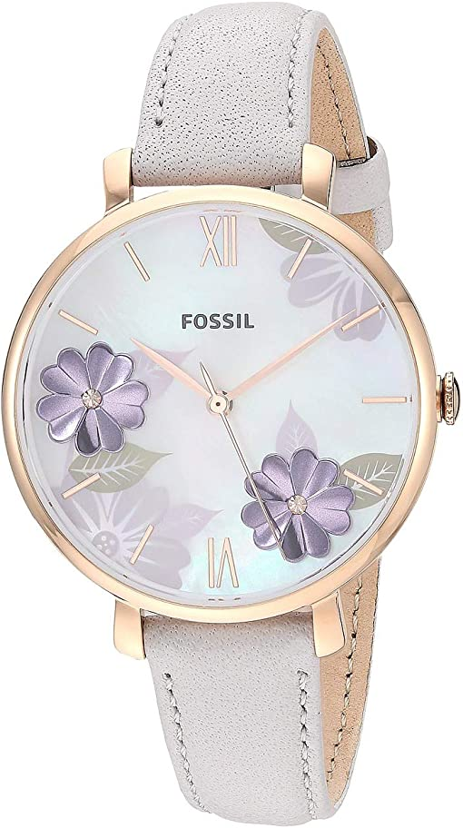 ES4672 Rose Gold Mineral Gray Leather