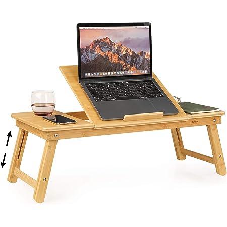 Homfa Laptoptisch Bambus Fürs Bett Tisch Laptop Stand Computer Zubehör