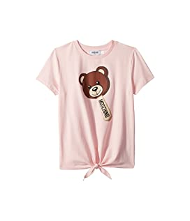 Short Sleeve Teddy Bear Graphic T-Shirt w/ Front Knot (Big Kids)