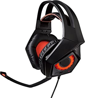 ASUS ROG Strix Wireless - Auriculares Gaming con Sonido Envolvente 7.1 (conectividad inalámbrica 2,4 GHz, 10 Horas de autonomía y compatibilidad multiplataforma), Negro y Naranja