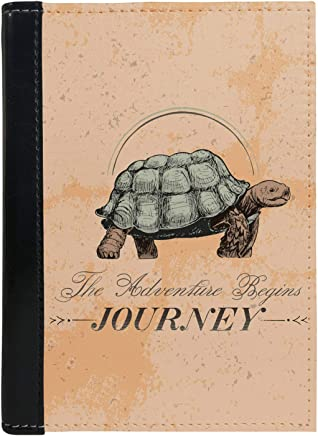 MADANYU Passport Cover - Designer Printed Passport Holder - Ideal for Men Women Kids Boys and Girls - Faux Leather - Adventure Begin Journey