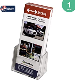 Clear-Ad - LHF-S100 - Acrylic Trifold Brochure Holder - Pamphlet Display Stand (Single Pack)