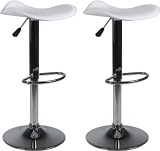 Amazon.com  White - Barstools   Home Bar Furniture  Home   Kitchen 906e06d60c