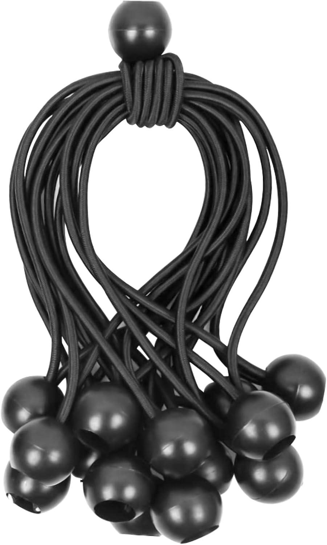 Tensores Elasticos 15Pcs (18 CM) - Tensores Lona Piscina, Tensores para Toldos, Cuerda de fijación Bungee Cords para Cortinas, Pabellones,Tiendas de Campaña, Banner, Trampolín