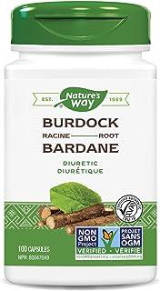 Nature's Way Burdock Root Health Supplement, 475 mg per serving, TRU-ID Certified, Non-GMO Project,100 Capsules