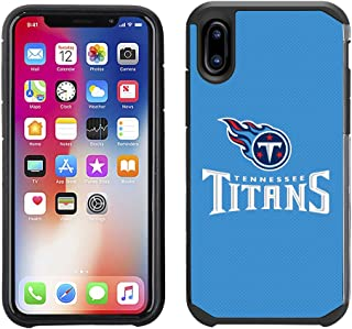 Prime Brands Group Cell Phone Case for Apple iPhone X - NFL Licensed Tennessee Titans Textured Solid Color