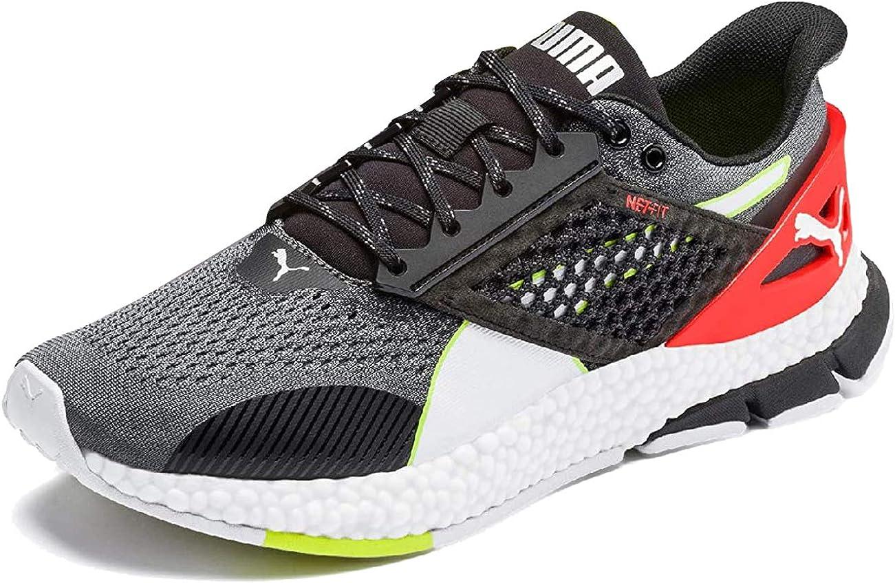 PUMA Men's Running Shoes, Castlerock Black Nrgy Red