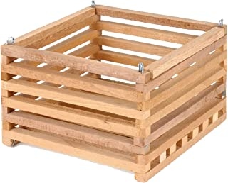 wooden slat baskets
