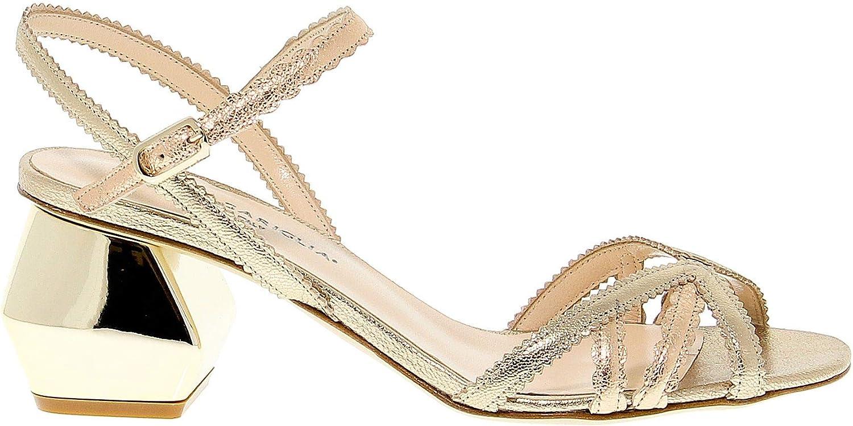 GUIDO SGARIGLIA Women's SGA1050 gold Leather Sandals