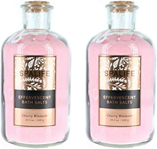 Spa Life Effervescent Bath Salts Cherry Blossom 2 pack
