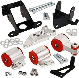 For Honda Civic Si Fg Fa Fd Manual Billet Aluminum Engine Motor Mount Silver Red Polyurethane Bushing Upgrade Replacement