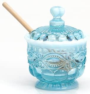 Honey Jar - Eyewinker - Blue Opalescent - Mosser USA