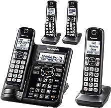 $57 » Panasonic KX-TGF544B Dect 4-Handset Landline Telephone (Renewed)