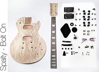 DIY Electric Guitar Kit - Singlecut Spalted Maple Bolt On Neck