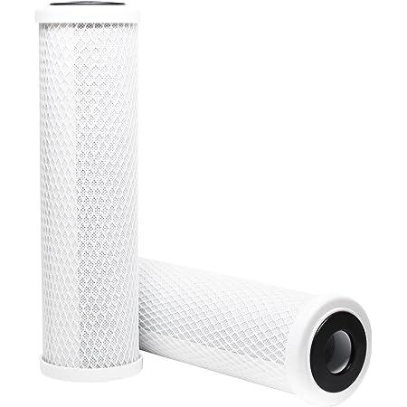 Denali Pure Lot de 2 filtres à charbon actif Culligan RVF-10 - Universels - 25,4 cm - Compatibles avec les filtres à eau extérieurs Culligan RVF-10