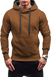 Mens Pullover Active Hoodie Long Sleeve Pocket Drawstring Pullover Pullover