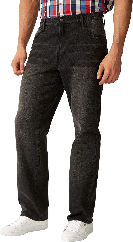 Liberty Blues Men's Big & Tall Loose Fit 5-Pocket Stretch Jeans