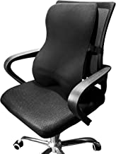 Dreamer Car Comfortable Memory Foam Full Back Cushion Back Support for Office Chair, Chair Cushion with Ventilated Cover Balanced Softness Designed to Relieve Sciatica Pain,Black