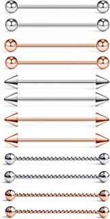 12pcs 14G Surgical Steel Industrial Barbell Bar Earring...