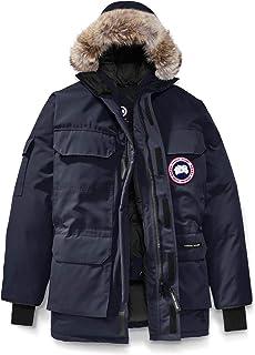 [カナダグース] CANADA GOOSE Men`s Expedition Relaxed Fit Genuine Coyote Fur Trim Down Jacket メンズパーカー [Admiral Blue] [並行輸入品]