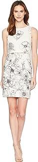 Womens Linen Printed Popover Sleeveless Dress