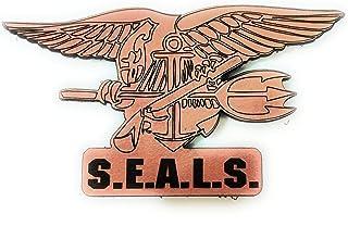 Parche de cuero insignia navy seals tactica militar con velcro macho y hembra incluidos