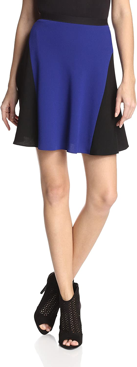 Elie Tahari Women's Judy Skirt colorBlock bluee Black