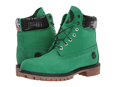 Timberland Boston Celtics 6 Premium Waterproof Boot (Medium Green Nubuck) Men