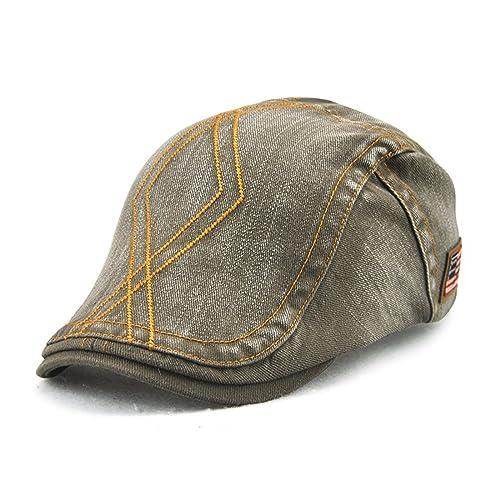 Roffatide Rhombic Pattern Cotton Newsboy Cap Retro Beret Boina Cabbie Flat Hat Ivy Cap