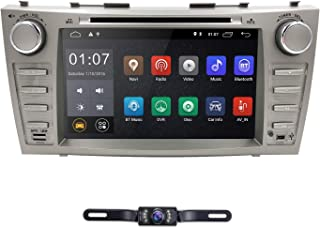 Android 9.0 Quad Core Car DVD Player for Toyota Camry 2007-2011 Aurion 2006-2011 8 Inch Screen GPS Navi BT Radio RDS DTV USB Android/iPhone Mirrorlink SWC Rearview Camera USA Map