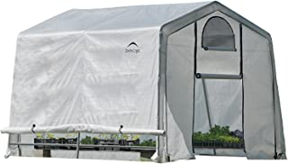 ShelterLogic 10' x 10' GrowIT Greenhouse-in-a-Box Flow Peak Roof Style Easy Access Outdoor Grow House with Translucent Wat...