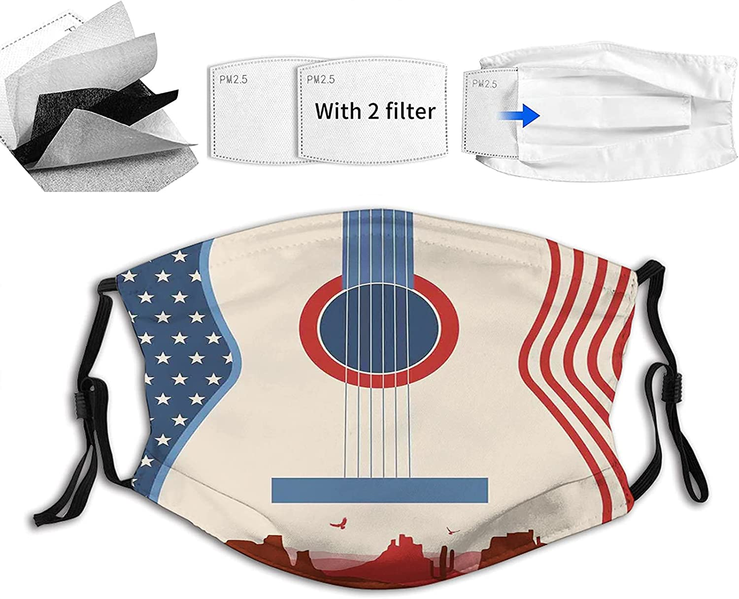 Music Country Milwaukee Mall Festival San Diego Mall Event Guitar with American Flag Fac