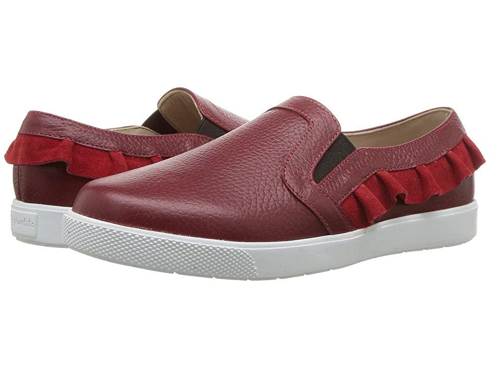 Elephantito Ruffled Slip-On (Toddler/Little Kid/Big Kid) (Textured Red) Girls Shoes