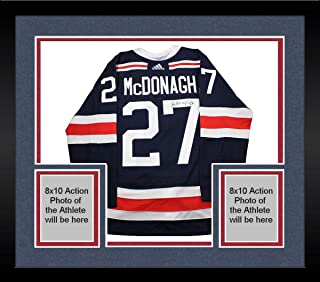 Framed Ryan McDonagh New York Rangers Signed 2018 NHL Winter Classic Jersey - Steiner Sports Certified