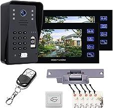 7 Inch Video Deurbel, Vingerafdruk Wachtwoord Video Deurtelefoon Beveiliging Surveillance, Intercom, Nachtzicht Camera + 2...