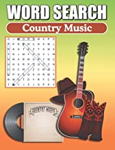 Word Search Country Music: Word Find Book For Adults