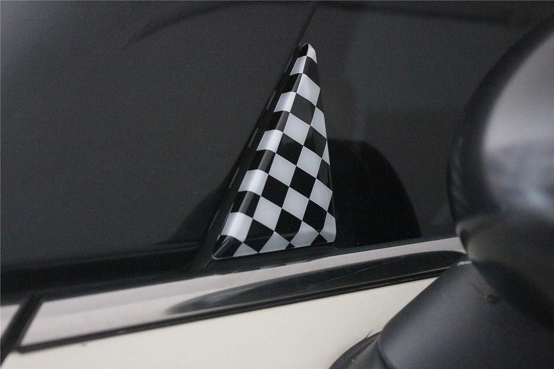 F56 F57 Covertible F60 Countryman Clubman F54, Orange T/ür-//Fenster-//Glas-S/äule Dreiecks-Aufkleber aus ABS f/ür Mini Cooper F54 Schr/ägheck