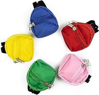 حقيبة ظهر صغيرة من أوير، 5 عبوات من حقائب الظهر الصغيرة للدمى الأمريكية جيرل للمدرسة بحجم 45.72 سم من إكسسوارات الدمى