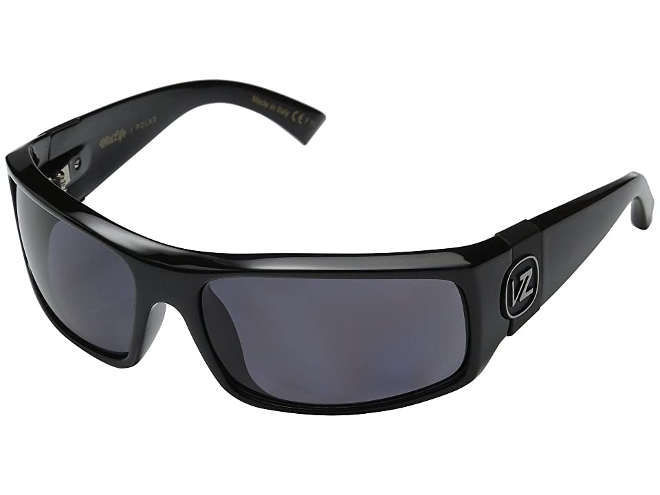 d9f5a46925c VonZipper Kickstand Polarized (Black Gloss Vintage Grey Wildlife Polarized  Lens) Sport Sunglasses