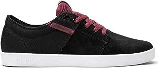 Supra Mens Stacks TK Kennedy Skate Shoes Black/Burgandy-White S44100 Size 8