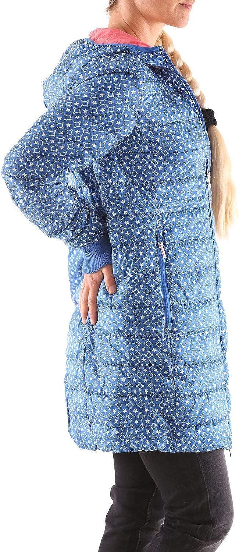 Blutsgeschwister Leichte Laune Long Jacket Damen Daunen Jacke Mantel Blau (Stars Of Manege)