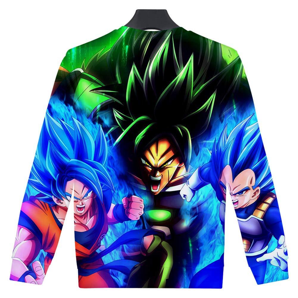 Zcbm Moda Sudaderas Camisas Crew Neck Suéter 3D Impresión Dragon Ball Super Saiyan Goku Vegeta Broli Camisa Manga Larga Estampada Top De Cuello Redondo,S: Amazon.es: Hogar