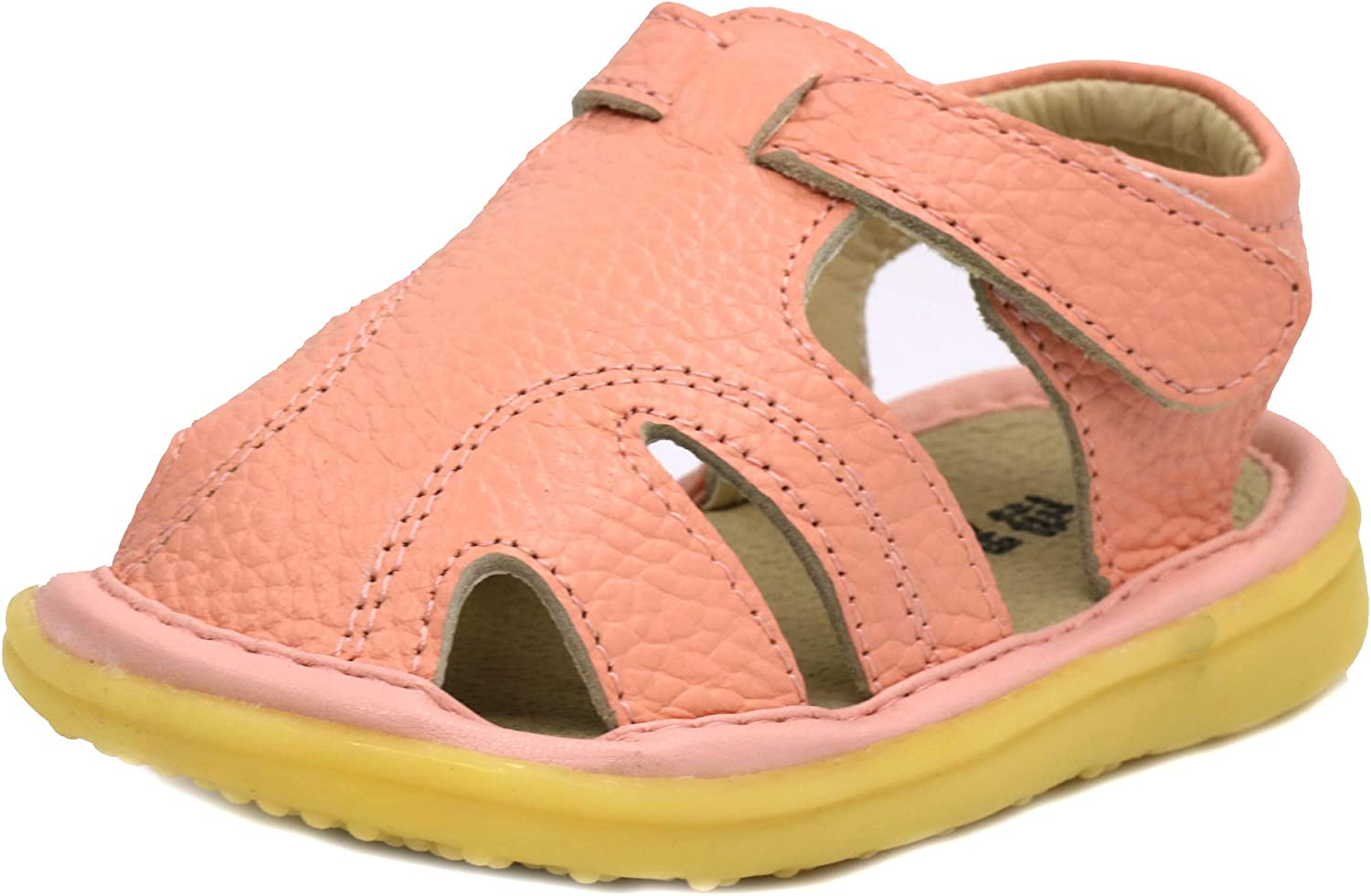 LONSOEN Toddler Limited time sale Boy Girl Summer Leather Outdoor In a popularity Closed-Toe Sanda