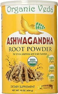 Organic Veda USDA Certified Organic Ashwagandha Root Powder, 1 lb